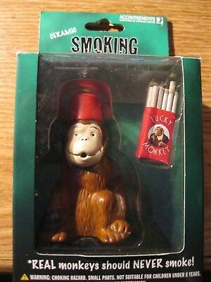 Ceramic Smoking Monkey Item #11232 Made 2003 Boxed New See Pic's!