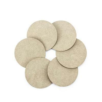 Bare Wood MDF 10cm Coasters Set 6pcs #460.454.090