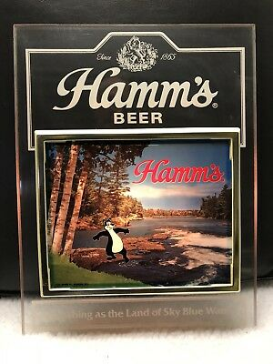 Hamms Beer Bear Toe In The Water Lighted Sign Non Motion Back Bar Display Item