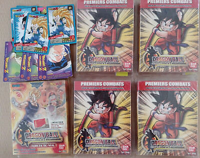 Lot Decks Série 4 5  Premiers Combats Dragon Ball Z Forces Du Mal 32 Cartes Neuf
