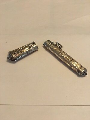 Sterling Silver Needle Case, marked 925. Will need to be hand polished.