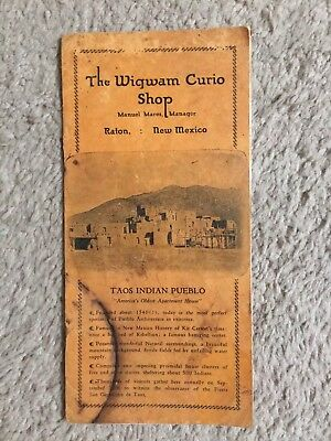 Old Indian Wigwam Curio Shop Catalog - Raton New Mexico Territory - Pottery +++