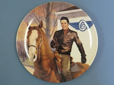 """Elvis Presley Collector Plate """"'The Flying Circle G Ranch"""" Bradford Exchange"""