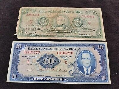 """COSTA RICA  World Currency  Circulated  Conditions  """" high value """""""