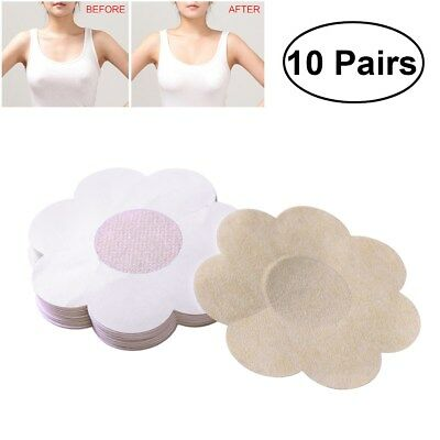 10Pairs Stick On Nipple Daisies Modesty Breast Cover Strapless Backles Concealer