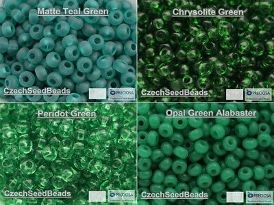 4mm Green Teal Colors 06/0 Seed Beads Rocailles 20g Czech Seed Beads size 6