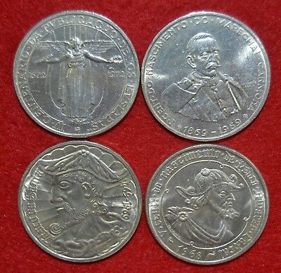 PORTUGAL 4 coins of 50 $ 00 SILVER / the 4 different coins / SILVER / lote Nº 22