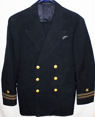 -Rare- WWII -US Navy- Vintage Pilot Officer's ID'd Wool Military Uniform w/Wings
