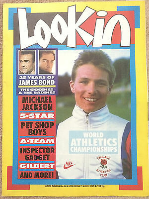 Look In Magazine 29 Aug 1987 #36 Athletic Word Championships / Michael Jackson