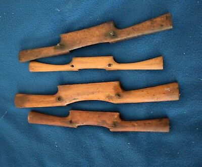 Four Old Vintage Or Antique? Wooden Spokeshaves In Very Good Condition