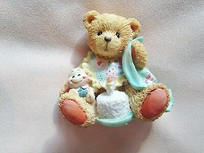 """adorable Cherished Teddy """"Beary Special One"""" birthday bear figurine for 1 yr old"""