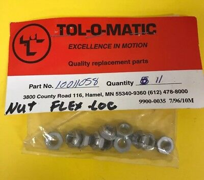 *nos* (11)Tol-O-Matic Replacement Parts 10011058 Nut Flex Loc *free Shipping*