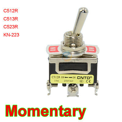 12mm Momentary Toggle Switch 3/6Pin (ON)-(ON),(On)Off(On) Copper/Silver Contact