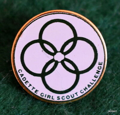 Girl Scout Pin - Cadette Challenge Pin -
