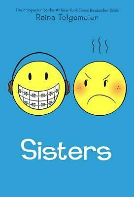 Sisters by Raina Telgemeier (English) Hardcover Book Free Shipping!