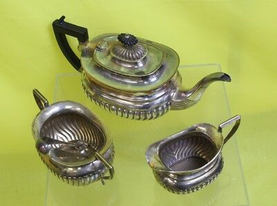 1950's Electrolysed Georgian Style Teapot / Milk Jug / Sugar Bowl #KTH