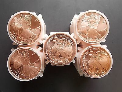 100 Ounces Of Copper Coins 1 oz Each Walking Liberty Bullion Rounds 5-10-20