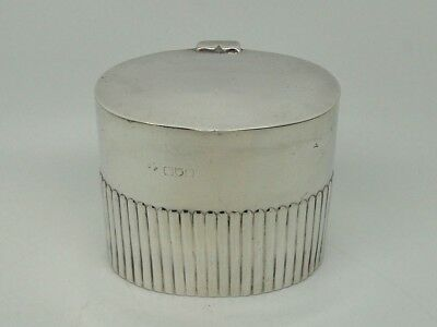 Antique Victorian Silver Tea Caddy London 1898 – William Hutton & Sons LARGE