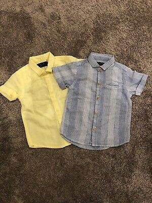 Next Baby Boys Short Sleeve Shirts, 12-18 Months, Brand New Without Tags, 2 Pack