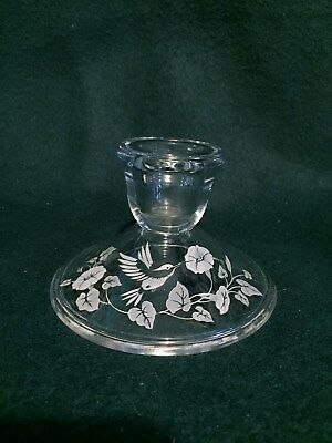 Avon Gift Collection 24% Lead Crystal Hummingbird Replacement Candle Holder