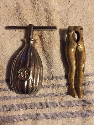 Rare Old Antique Vintage Hmq Nut Cracker And Sexy Lady Legs
