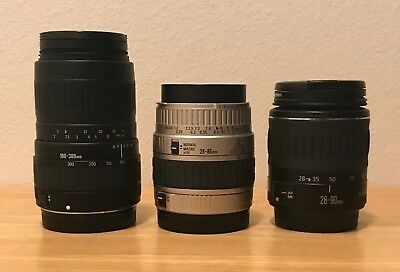 Canon Camera Lenses -- lot of three