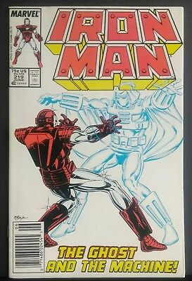 Iron Man #219 Nm- 9.2 Newsstand Copy 1St Appearance Of The Ghost Antman 2 Movie