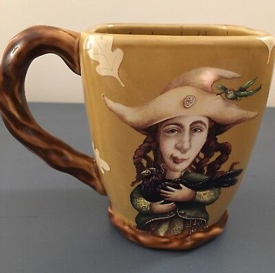 """Dept 56 Rare Witch Mug """"Terra"""" W is for Watchful"""