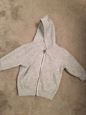 Next Baby Boy Hooded Cardigan. Size 6-9 Months. Grey. Worn Once