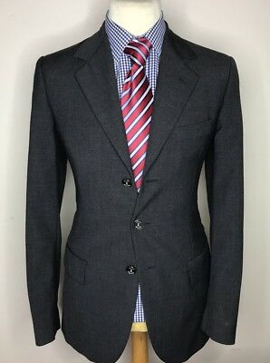 CHEAP and CHIC by MOSCHINO LUXURY DESIGNER JACKET/BLAZER CHARCOAL GREY 38R
