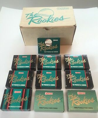 Lot of 10 DONRUSS ROOKIES CARD SETS - 1986, 1987, 1988, & 1989  FACTORY SEALED