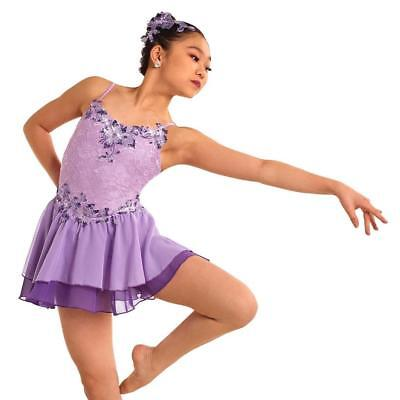 Dance Costume Medium Child Lavender Lyrical Ballet Flow Solo Competition Pageant