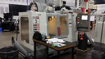 Used 2004 Haas VF-2SS CNC Vertical Machining Center Mill 12k RPM 4TH READY RIGID