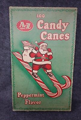 A-Z Manufacturing Co. 100 Ct. Candy Cane Box Only Santa Claus Detroit Michigan