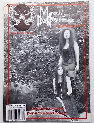 MARQUIS MASQUERADE MAGAZINE ISSUE 1 Oct 95 Goth Fetish Fantasy Pagan Lifestyle