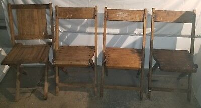 (3) Vintage SNYDER FOLDING CHAIRS +(1) SIMMONS industrial loft chairs Restorable