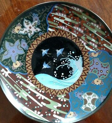19th C Japanese cloisonne charger