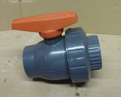 "NIBCO Chemtrol 1-1/2"" Tru Bloc PVC ball valve, NEW no box"