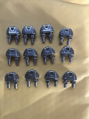 12 Stainless Steel Wire Rope Clips,  1/8""