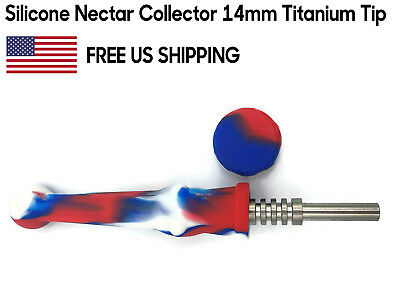 Silicone Nectar Collector 14mm Titanium Tip Honey Straw *FREE USA Fast Shipping*
