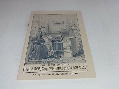 Caligraph Typewriter catalog pamphlet Cincinnati 1888  25 pages includes sample