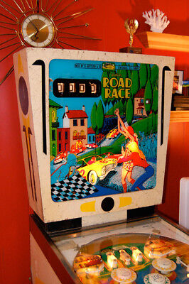 Gottlieb Road Race Wedghead Pinball Machine - 1969 Highly Collectible