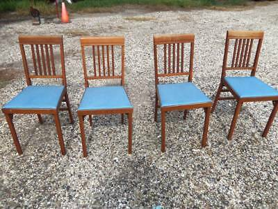 4 Vintage Leg-O-Matic Folding Chairs Airstream