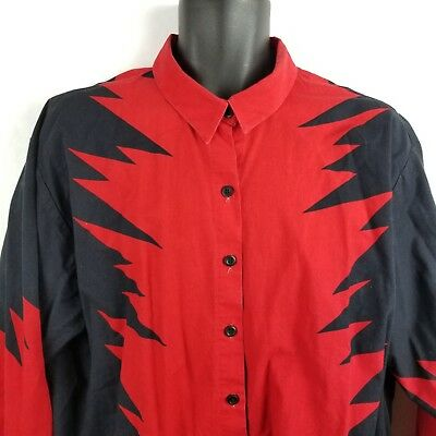 Vintage Brooks Dunn Cowboy Button Front Shirt XL Country Music Red