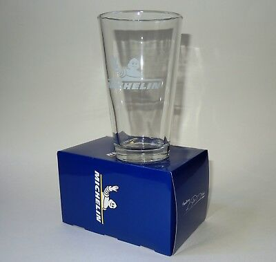 Michelin Tires Beer Drinking Glass Advertisement Collectible Automobilia in Box