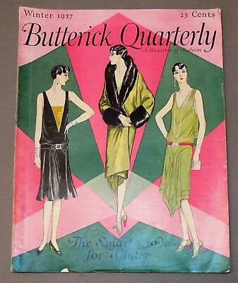 Rare fashion BUTTERICK QUARTERLY Winter 1927 pattern book flapper era catalog