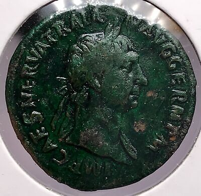 Roman Empire 98-117 AD Trajan Large Bronze Ancient Coin  918-7