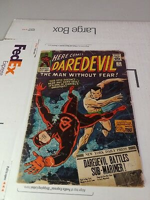 DAREDEVIL #7 FIRST ISSUE WITH RED COSTUME.  Missing Pin-up