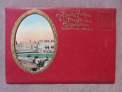 1909 ALASKA YUKON PACIFIC EXPOSITION Folding Postcard Pack 15 Color Views