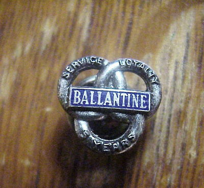 BALLANTINE BEER 5 Years Service Loyalty STERLING SILVER LAPEL  PIN